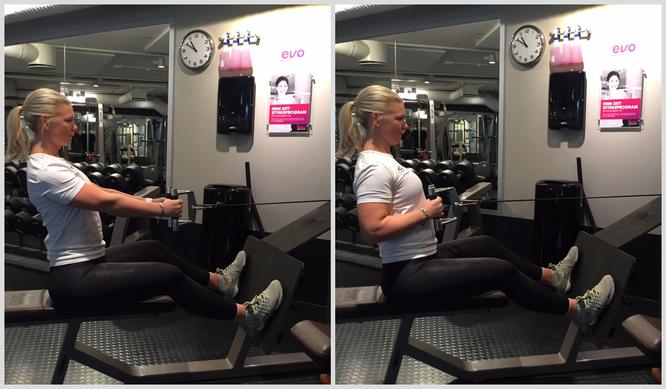 Sittende roing EVO fitness